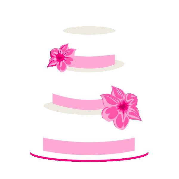 600x600 Pink Wedding Cake Clipart