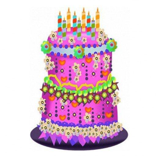520x512 Purple Birthday Cake Clipart