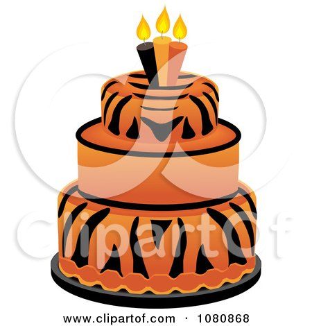 450x470 Royalty Free Vector Clip Art Illustration Of A Funky Three Tiered
