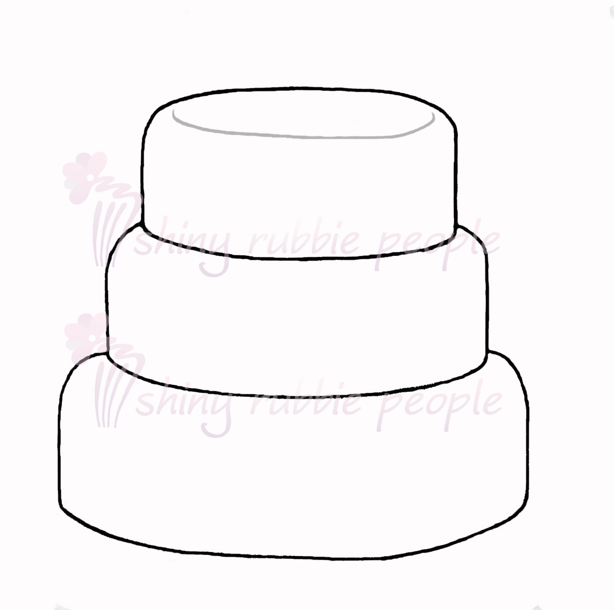 1239x1230 Tiered Birthday Cake Clipart
