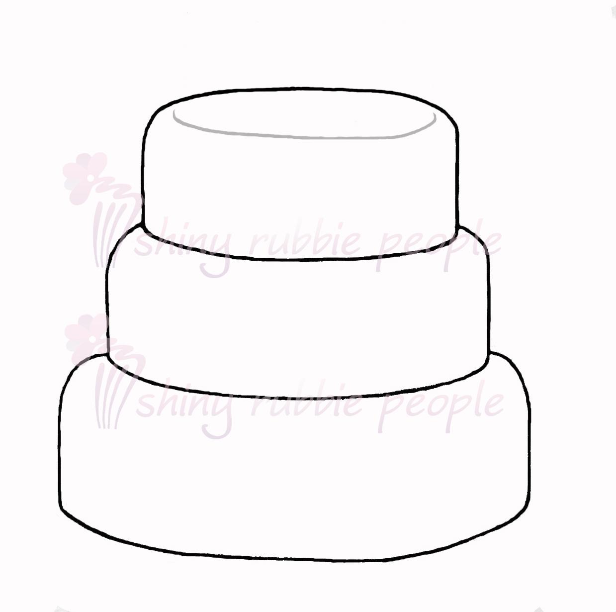 1239x1230 Tiered Birthday Cake Clipart