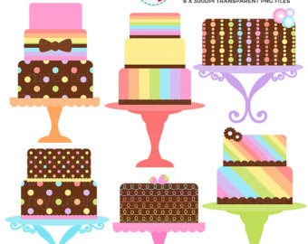 340x270 Tiered Cake Clipart Etsy