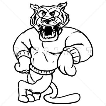 Tiger Black And White Clipart