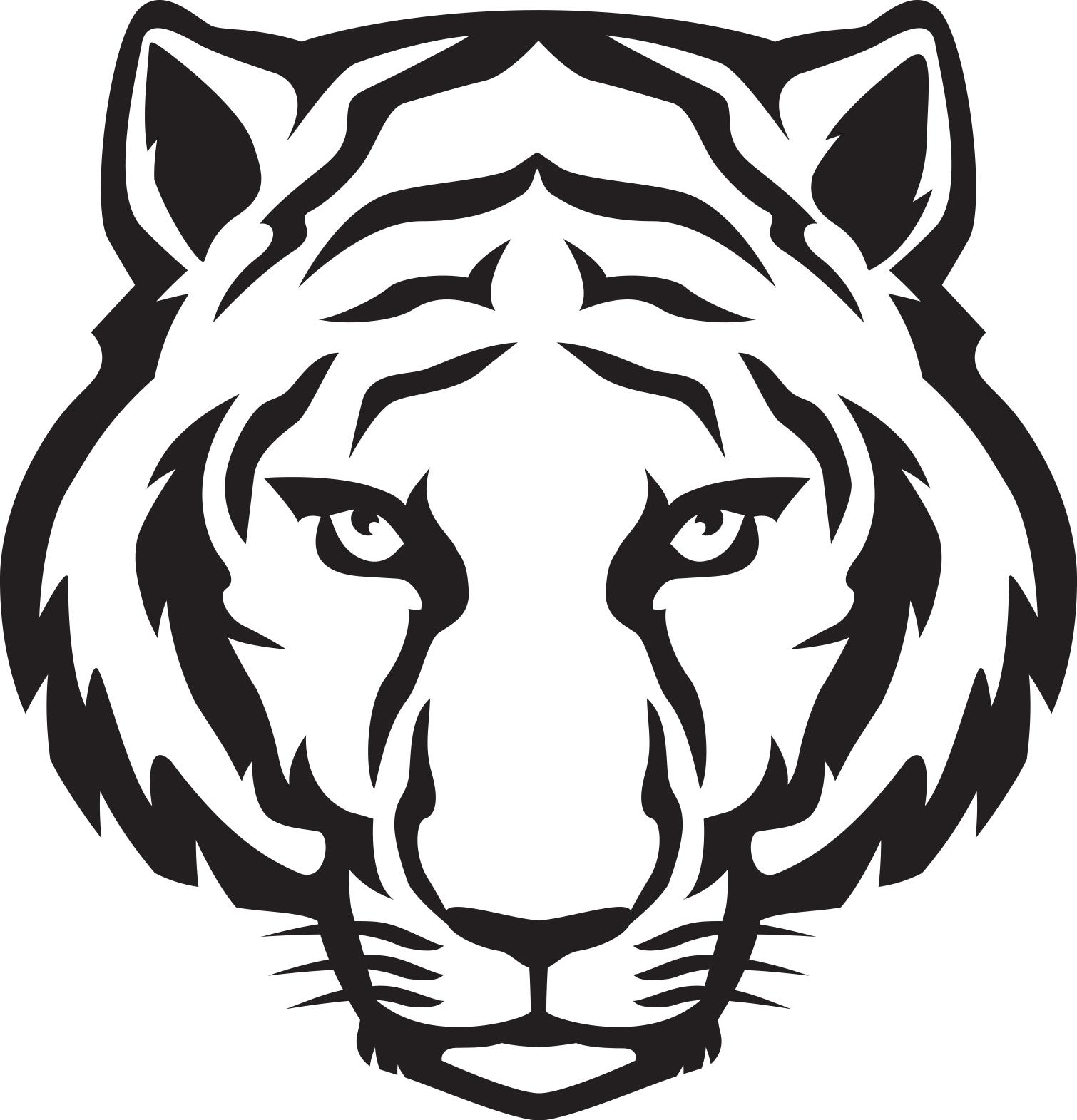 1510x1571 Tiger Clipart