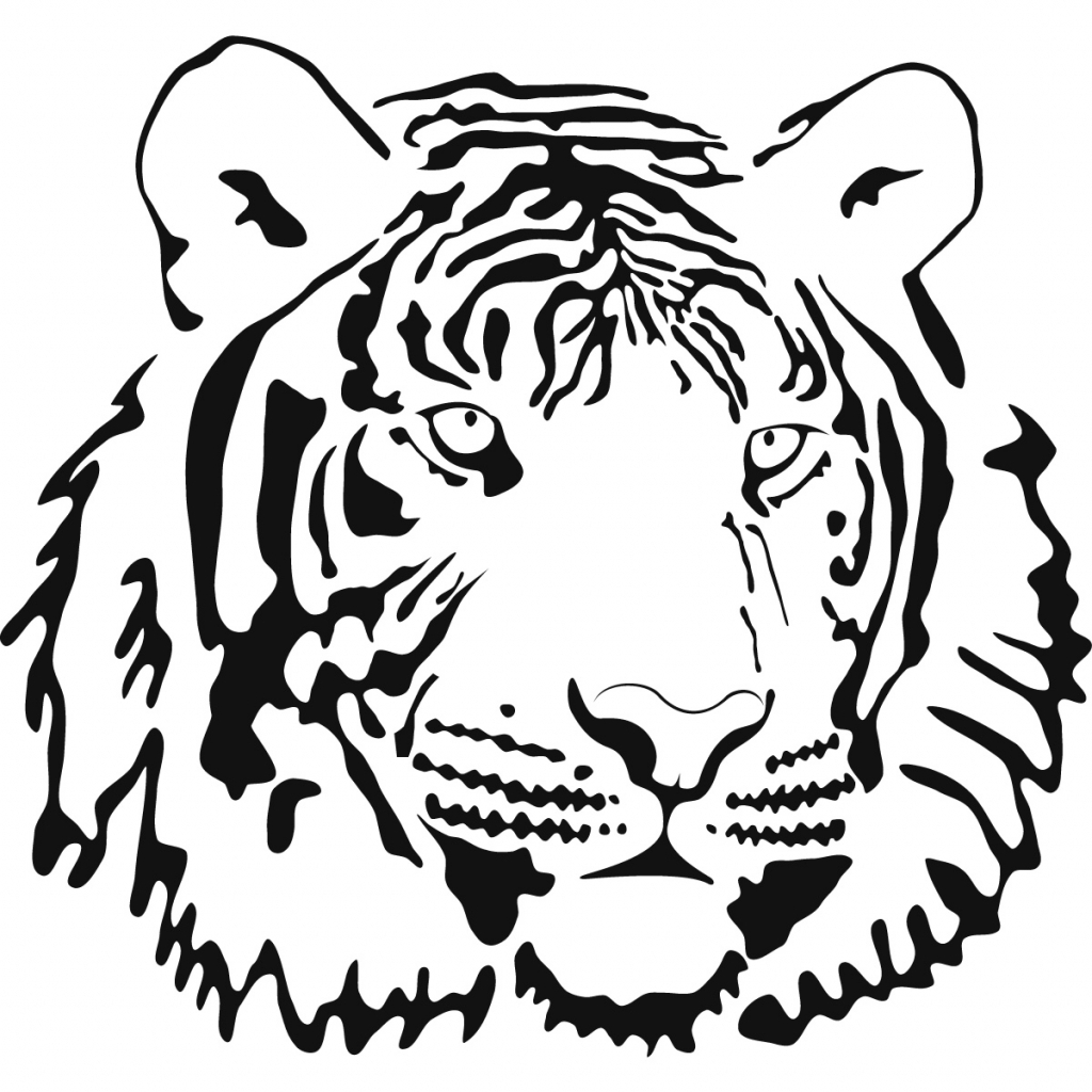 1024x1024 Tiger Drawing Outline 9 Pics Of Tiger Outline Coloring Page Cute