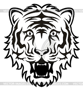 274x300 Tiger Face Clip Art Black And White Clipart Panda