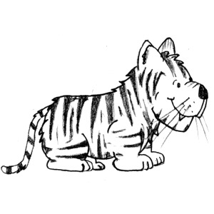 300x300 Tiger Black And White Tiger Clipart Black And White Free