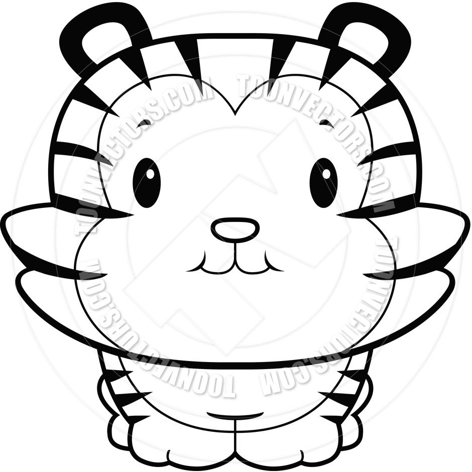 940x940 Baby Tiger Clipart Black And White Letters Example