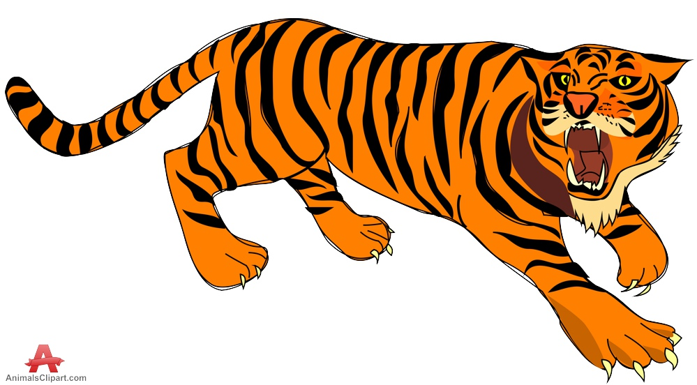 999x552 Animals Clipart Of Tiger With The Keywords