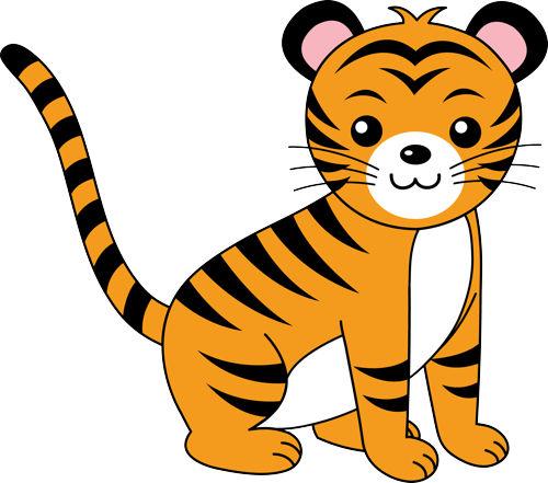 500x441 Tiger Clip Art