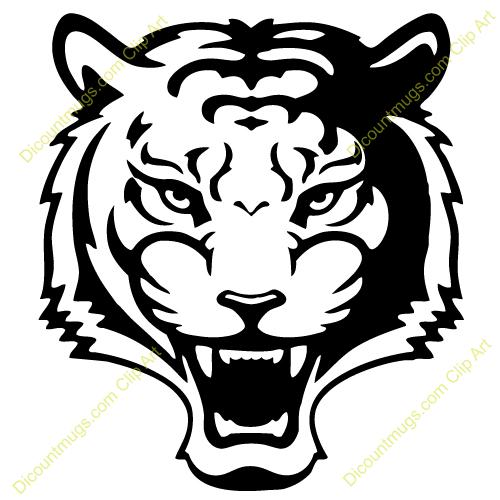 500x500 Tiger Face Clip Art