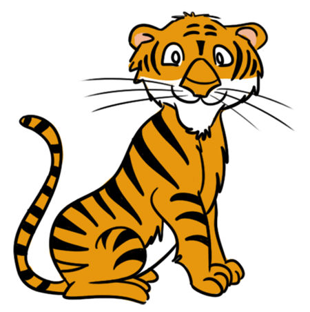 450x452 Tiger Clipart Kid