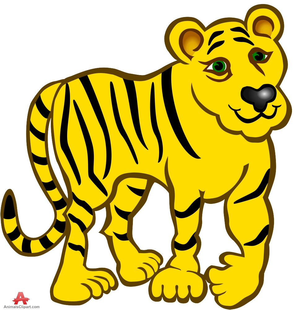 956x999 Tiger Clipart Yellow