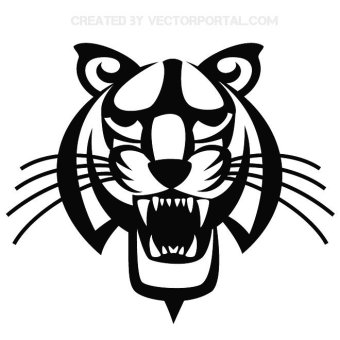 340x340 29 White Tiger Clip Art Vectors Download Free Vector Art