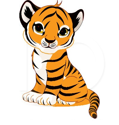400x420 Cute Tiger Face Clipart