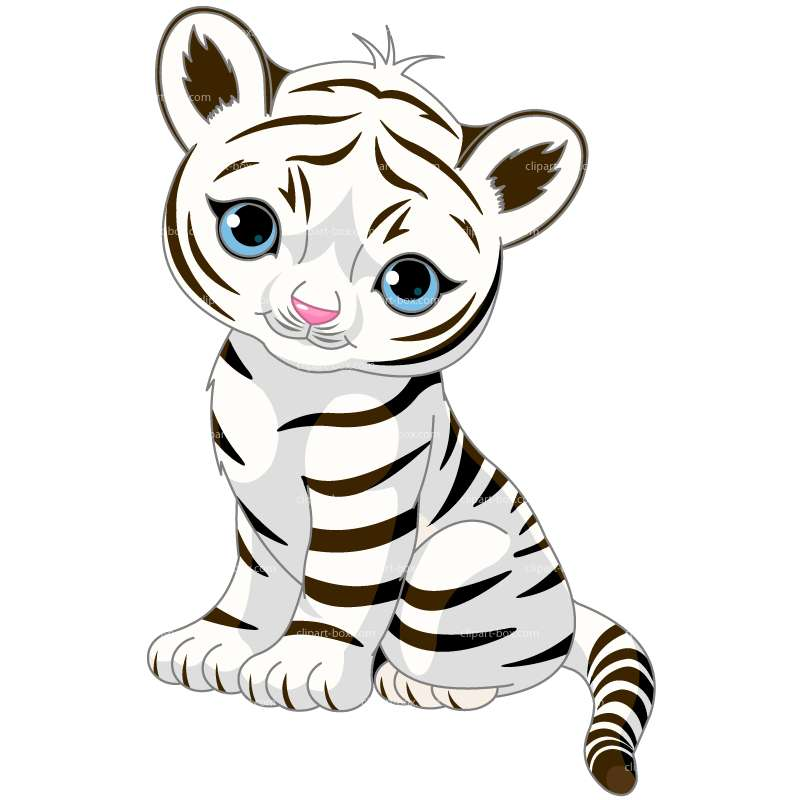 800x800 Tiger Black And White Clip Art