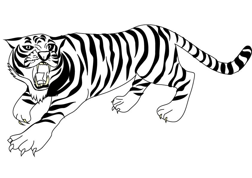 842x595 Tiger Coloring Pages