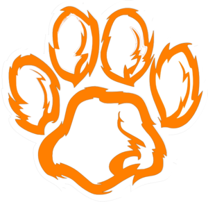 300x291 Tiger Paw White Orange Clip Art