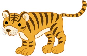 340x220 Tiger Clip Art Black And White Free Clipart Images