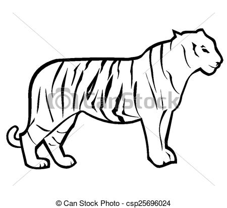 450x412 Tiger Clipart Tiger Outline