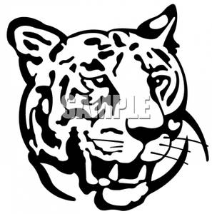 297x300 Black And White Tiger Clipart