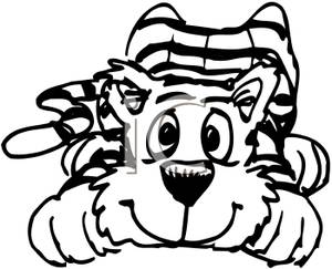 300x243 And White Tiger Clipart Image