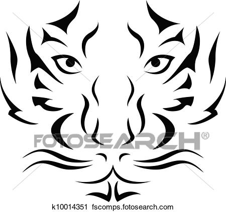 450x424 Clipart Of Tiger Tattoo K10014351