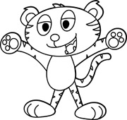 180x170 Cute Tiger Clipart Black And White Clipart Panda