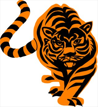 318x350 Free Tiger Clipart