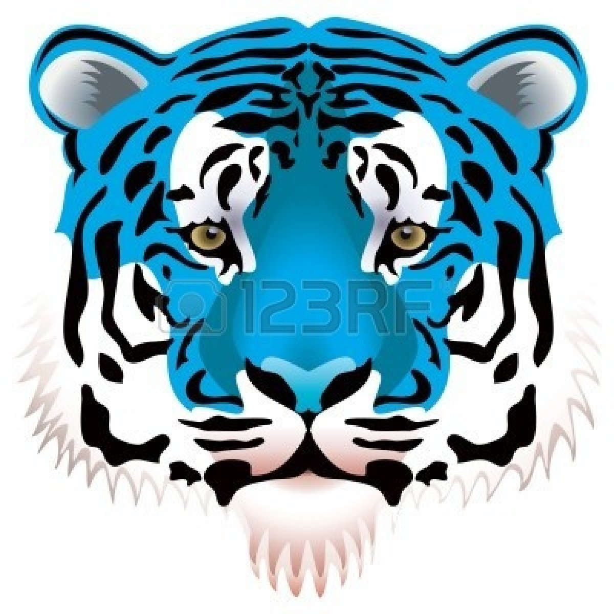 1200x1200 Happy Tiger Face Clip Art Clipart Panda