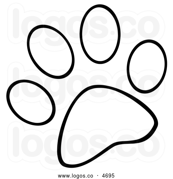 600x620 Paw Print Clip Art Black And White Many Interesting Cliparts
