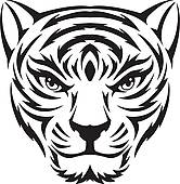 166x170 Tiger Face Clip Art