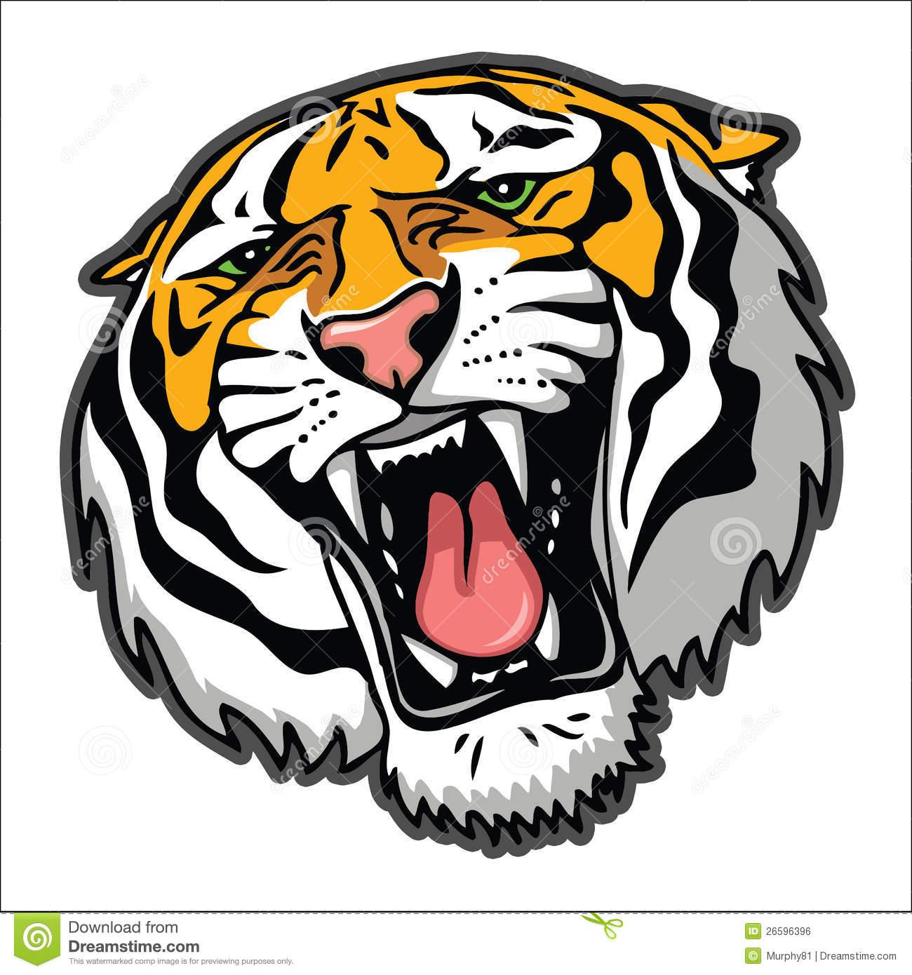 1300x1390 Tiger Head Clipart