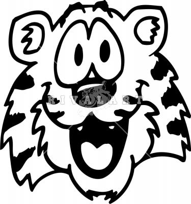 375x400 Tigers Face Clip Art