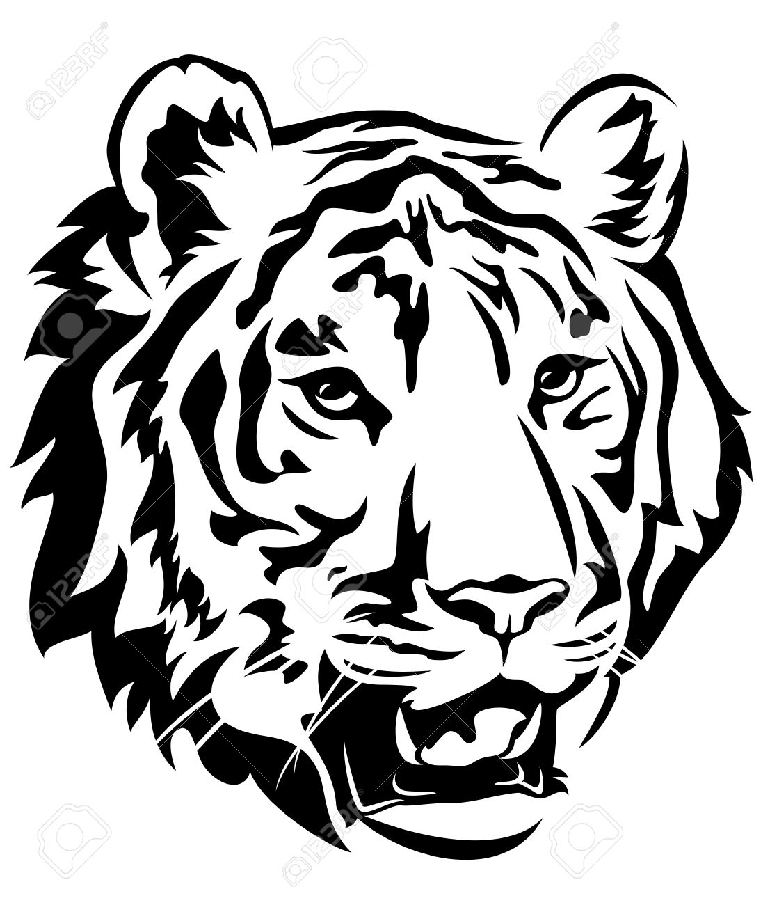 1107x1300 Tigres Clipart Black And White