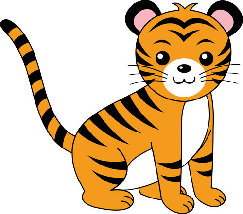 500x441 Free Cute Tiger Clipart Image
