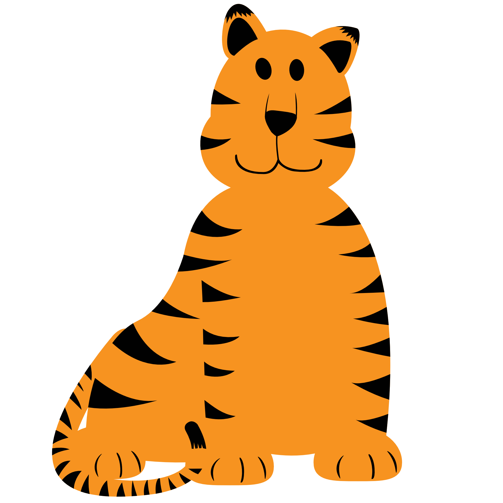 1969x1969 Baby tiger clip clipart image