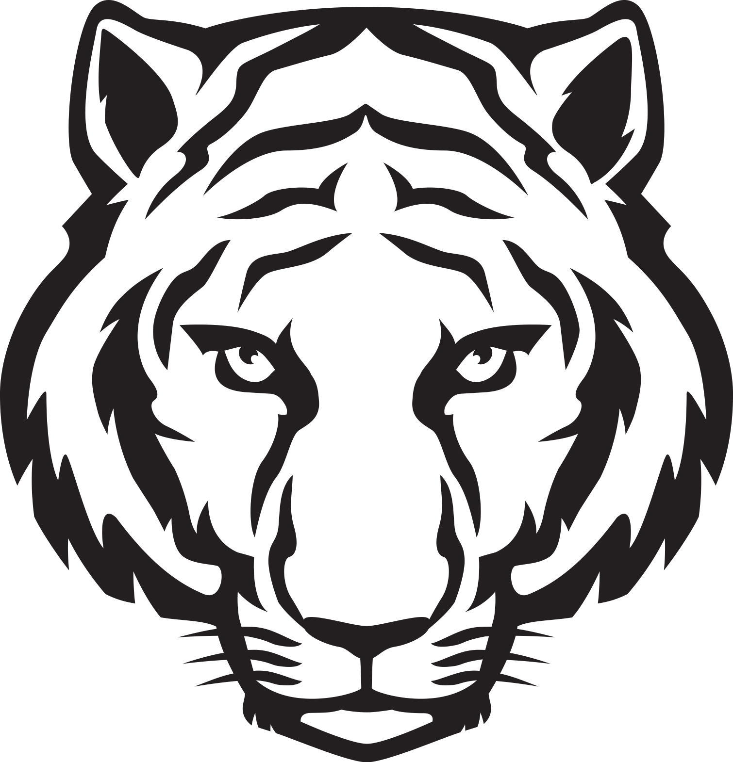 1510x1571 Tiger Clip Art