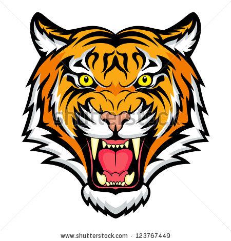 450x470 Tiger Head Clipart