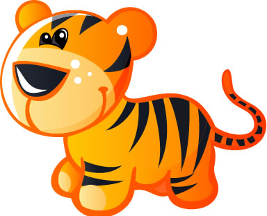 384x312 Baby tiger clipart free download clip art on