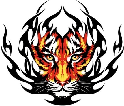 430x368 Tiger head free vector download (1,759 Free vector) for commercial