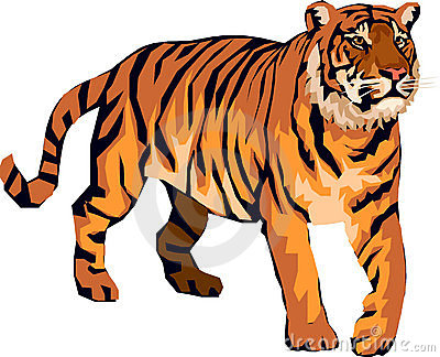 400x324 Cartoon tiger clipart kid