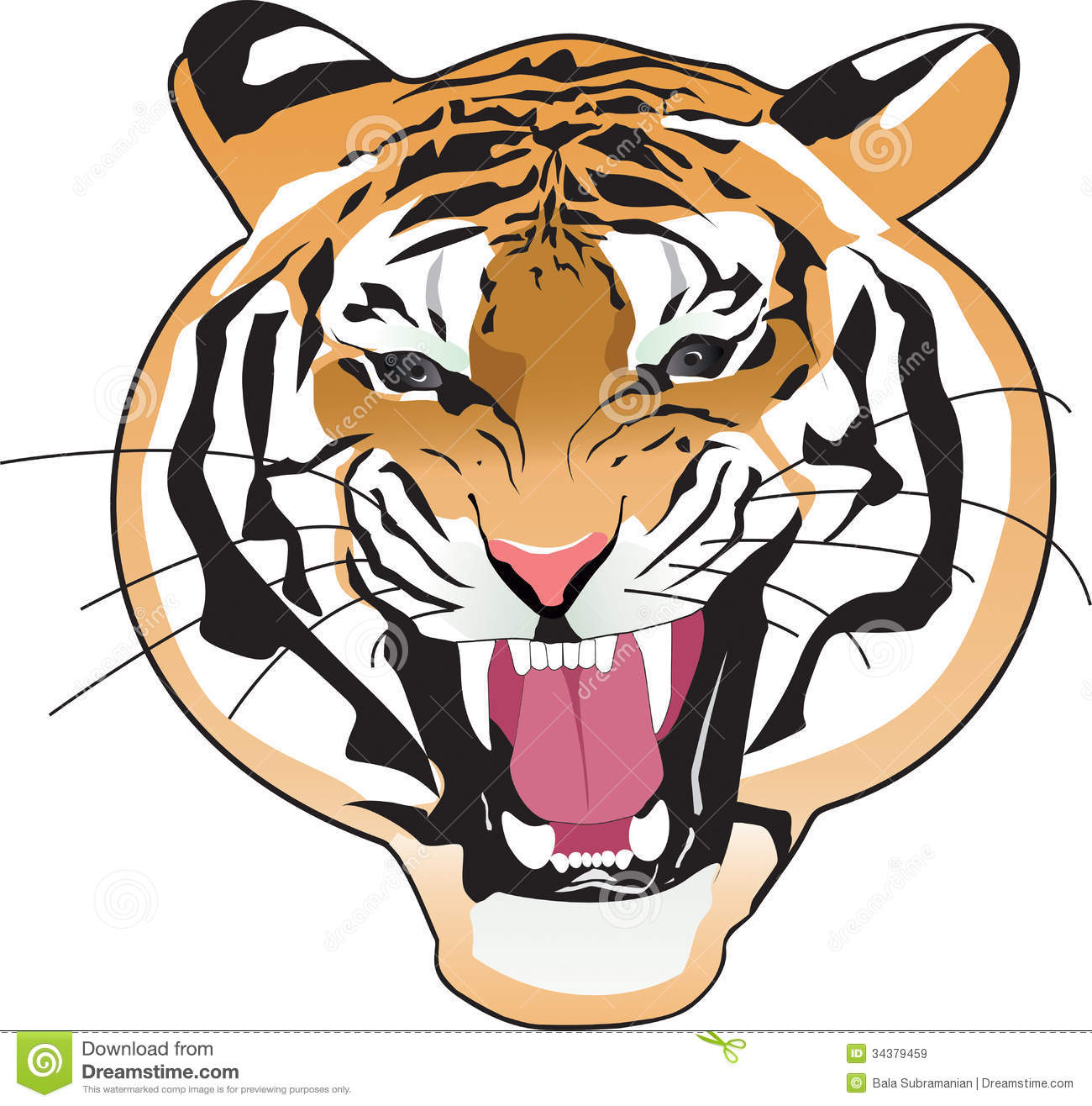 1300x1316 Fangs clipart tiger