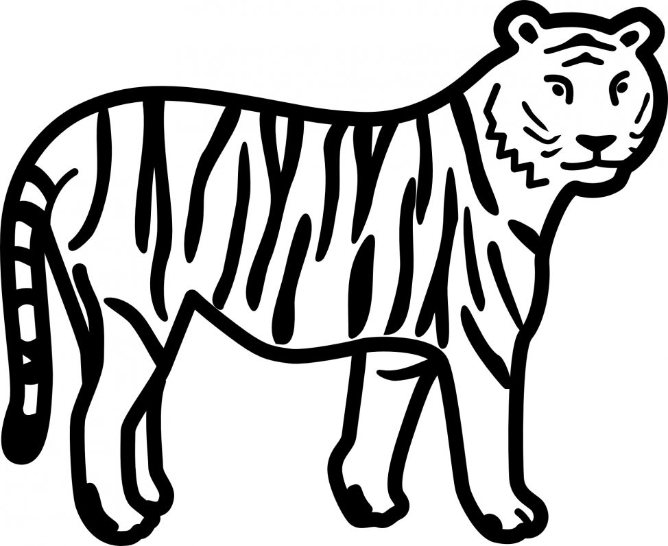 974x796 Coloring Pages Tiger Coloring Picture Pages Tiger Coloring