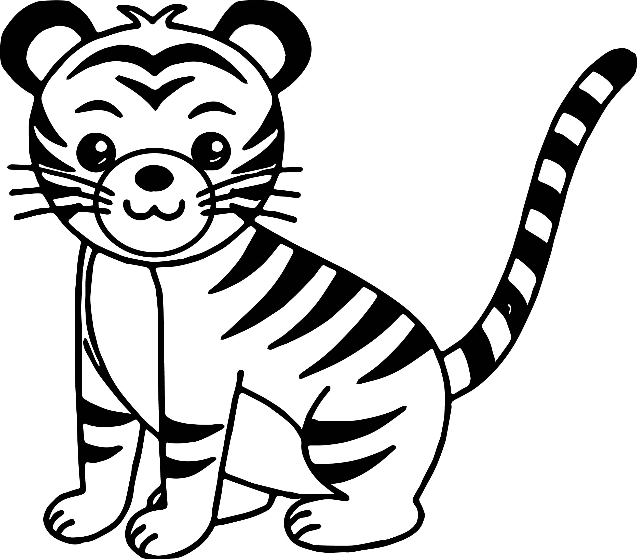 2501x2196 Cute Cat Tiger Coloring Page Wecoloringpage
