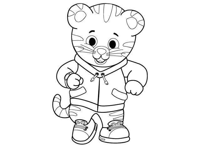 636x477 Free Download Daniel Tiger Coloring Pages