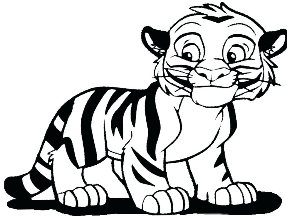 977x739 Free Tiger Coloring Pages Realistic Printable S