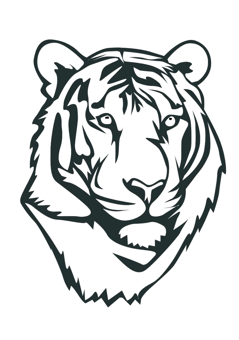 829x1176 Online Tiger Coloring Page 35 In Free Colouring Pages With Tiger