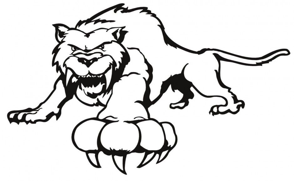 940x580 Saber Tooth Tiger Coloring Pages Free Saber Tooth Tiger Coloring