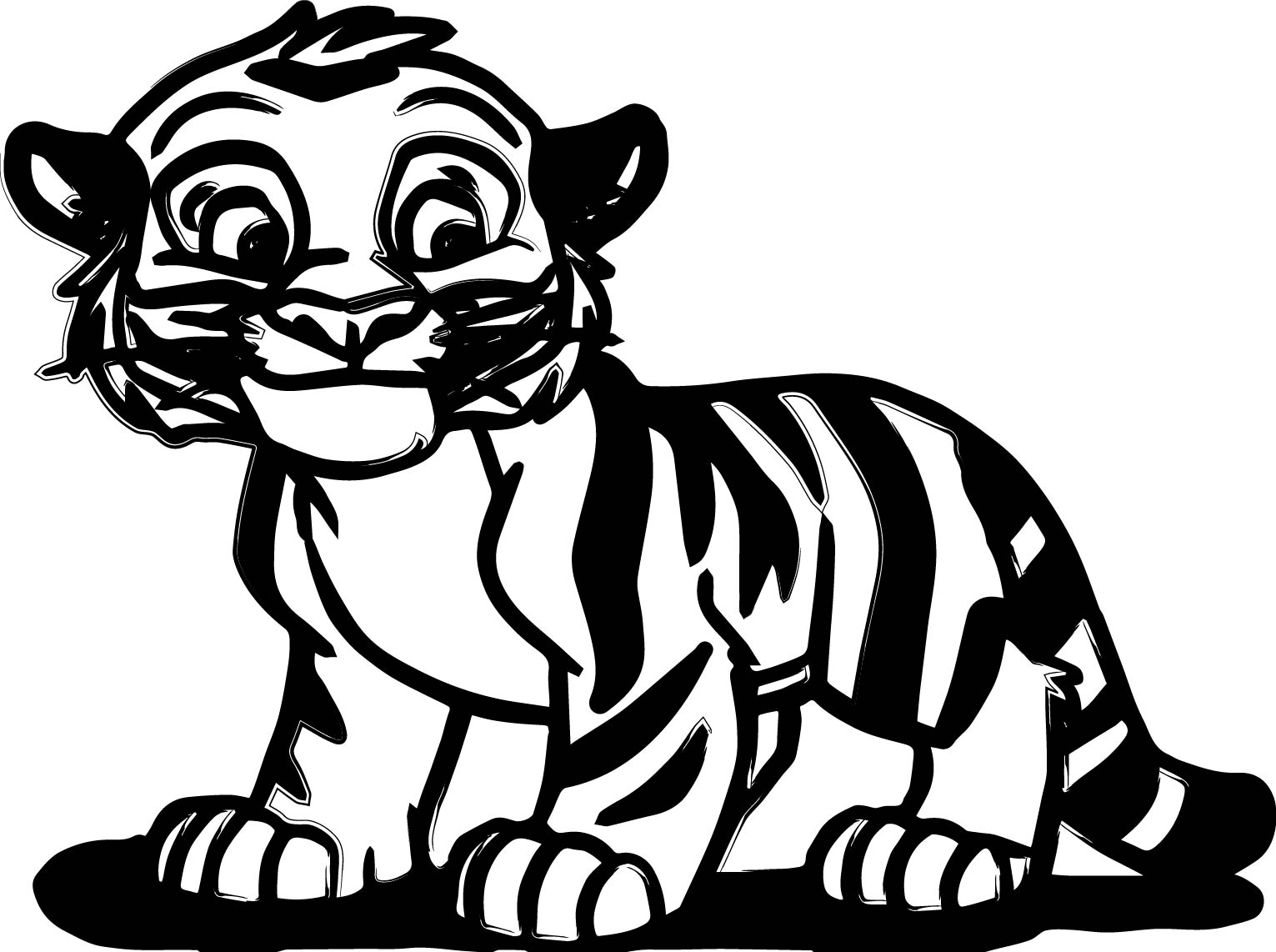 1531x1142 Tiger Coloring Pages